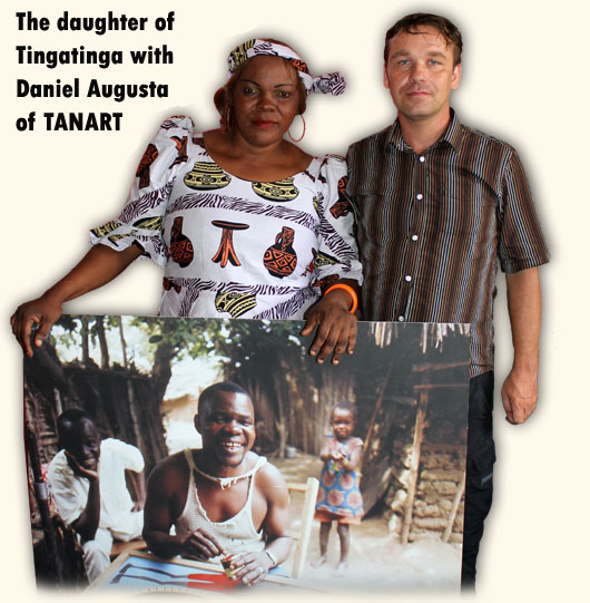 Martina Tingatinga and Daniel Augusta